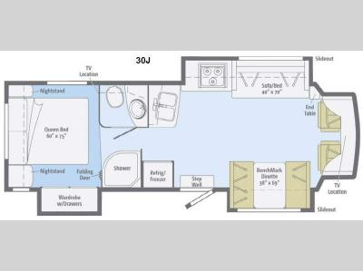 Floorplan - 2015 Winnebago Aspect 30J