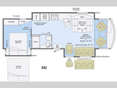 Floorplan - 2015 Winnebago Sightseer 33C