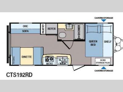Floorplan - 2015 Dutchmen RV Coleman Expedition CTS192RD