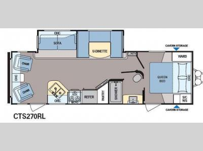 Floorplan - 2015 Dutchmen RV Coleman Expedition CTS270RL