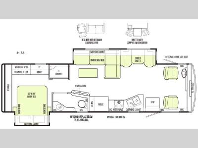 Floorplan - 2015 Tiffin Motorhomes Allegro 31 SA