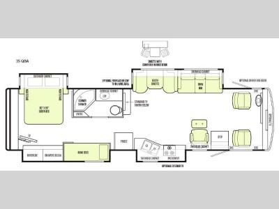 Floorplan - 2015 Tiffin Motorhomes Allegro 35 QBA