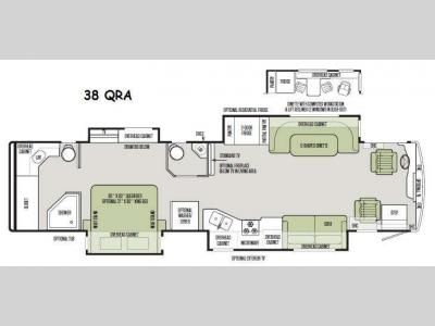 Floorplan - 2015 Tiffin Motorhomes Allegro RED 38 QRA