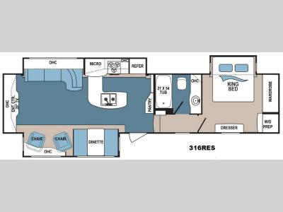 Floorplan - 2015 Dutchmen RV Denali 316RES