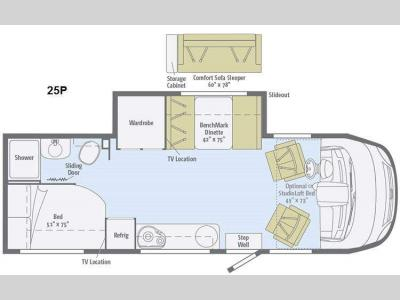 Floorplan - 2015 Winnebago Via 25P