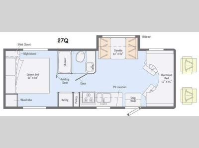 Floorplan - 2015 Itasca Spirit 27Q