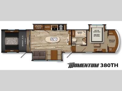 Floorplan - 2015 Grand Design Momentum 380TH