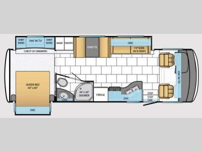 Floorplan - 2015 Newmar Bay Star 2903