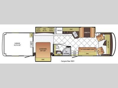 Floorplan - 2015 Newmar Canyon Star 3921