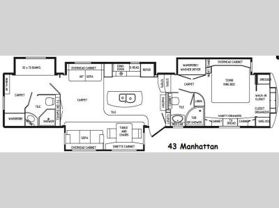 Floorplan - 2015 DRV Luxury Suites Elite Suites 43 Manhattan