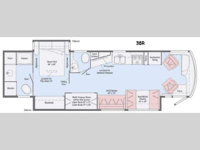 Floorplan - 2015 Winnebago Forza 38R