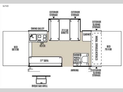 Floorplan - 2015 Forest River RV Flagstaff Classic 625D