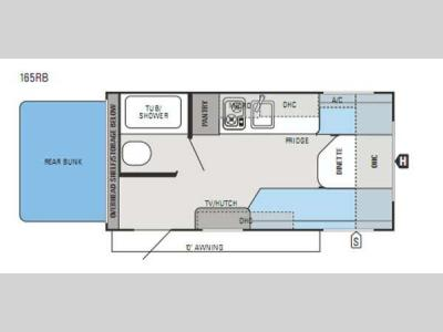 Floorplan - 2015 Jayco Jay Flight SLX 165RB