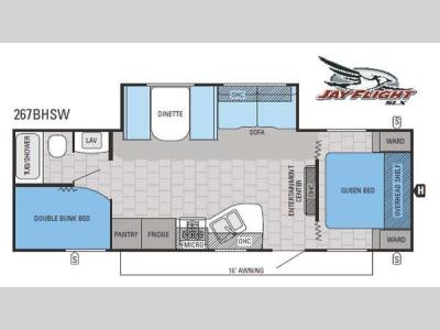 Floorplan - 2015 Jayco Jay Flight SLX 267BHSW