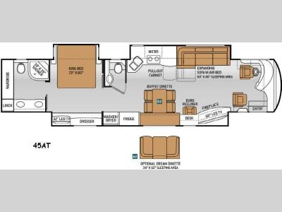 Floorplan - 2015 Thor Motor Coach Tuscany 45AT