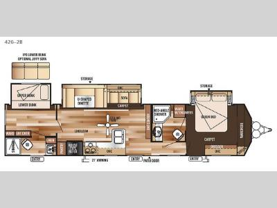 Floorplan - 2015 Forest River RV Salem Villa Series 426-2B Classic