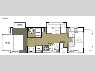 Floorplan - 2015 Forest River RV Forester 2501TS Chevy