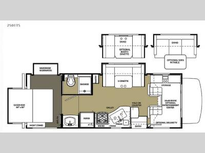 Floorplan - 2015 Forest River RV Forester 2501TS Ford