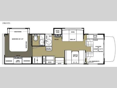 Floorplan - 2015 Forest River RV Forester 2861DS Ford