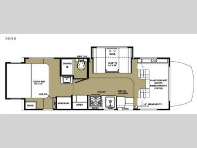 Floorplan - 2015 Forest River RV Forester MBS 2401R
