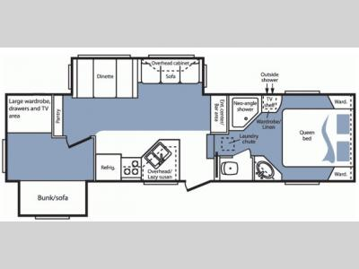 Floorplan - 2007 Keystone RV Cougar 289BHS
