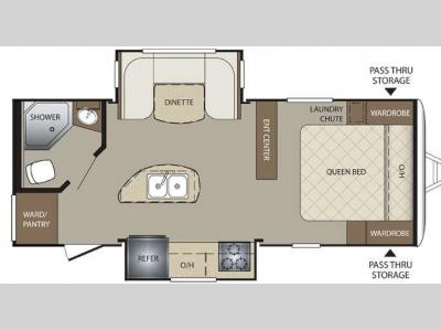 Floorplan - 2015 Keystone RV Bullet 220RBI