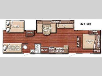 Floorplan - 2015 Gulf Stream RV Kingsport 323 TBR