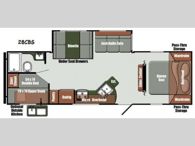 Floorplan - 2015 Gulf Stream RV Gulf Breeze Ultra Lite 28 CBS