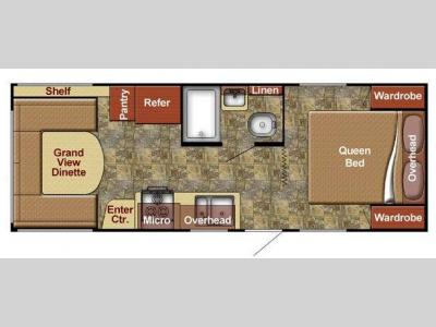 Floorplan - 2015 Gulf Stream RV Kingsport 20 QBG SE Series