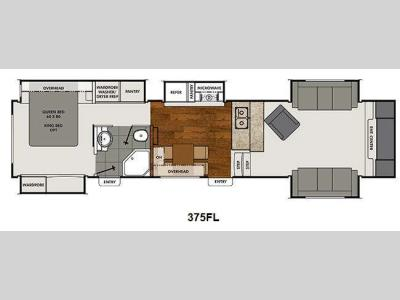 Floorplan - 2015 Coachmen RV Brookstone 375FL