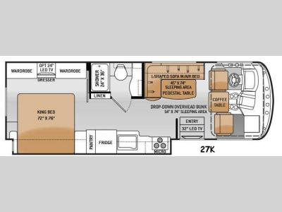 Floorplan - 2015 Thor Motor Coach Windsport 27K