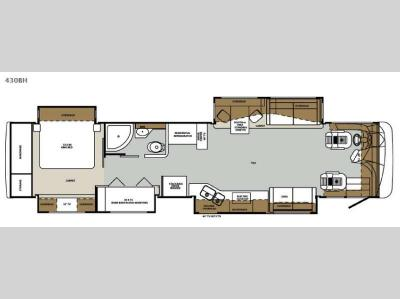 Floorplan - 2015 Forest River RV Charleston 430BH