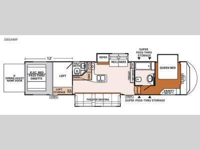 Floorplan - 2015 Forest River RV XLR Thunderbolt 380AMP