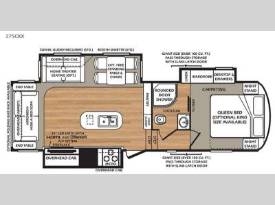Floorplan - 2015 Forest River RV Wildcat 275CKX eXtraLite