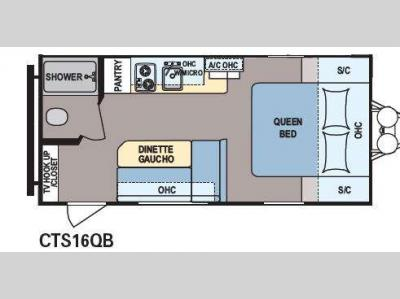 Floorplan - 2015 Dutchmen RV Coleman Expedition LT CTS16FBS