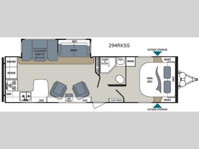Floorplan - 2015 Dutchmen RV Aerolite 294RKSS