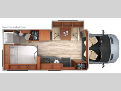 Floorplan - 2015 Leisure Travel Unity U24CB