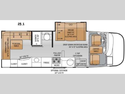 Floorplan - 2015 Thor Motor Coach Axis 25.1