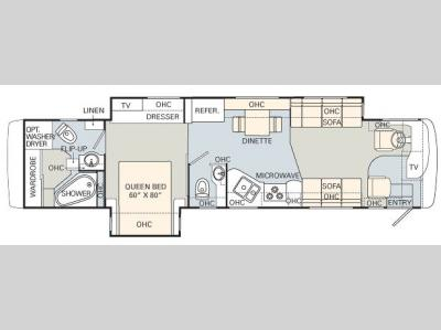 Floorplan - 2007 Monaco Knight 40DFT