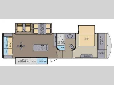 Floorplan - 2015 Shasta RVs Phoenix 32RE