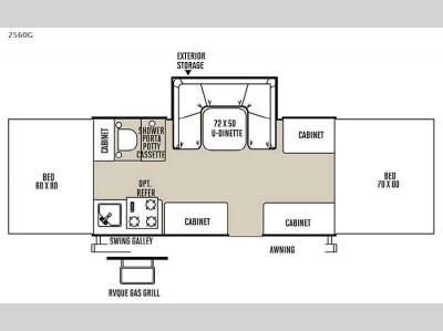 Floorplan - 2015 Forest River RV Rockwood Freedom Series 2560G