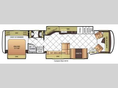 Floorplan - 2015 Newmar Canyon Star 3919
