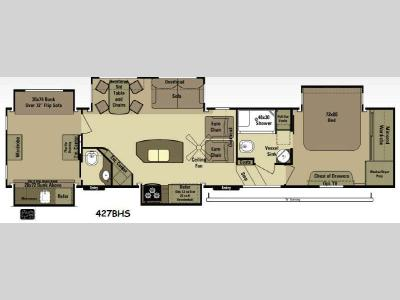 Floorplan - 2015 Open Range RV 3X 427BHS