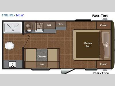 Floorplan - 2015 Keystone RV Hideout Single Axle 178LHS