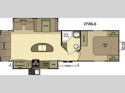 Floorplan - 2015 Open Range RV Light LT272RLS