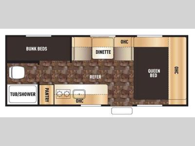 Floorplan - 2015 Forest River RV Cherokee Wolf Pup 16BHS