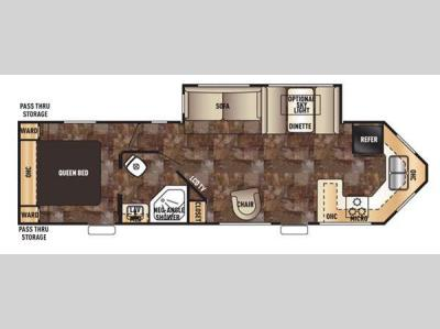 Floorplan - 2015 Forest River RV Cherokee 274VFK