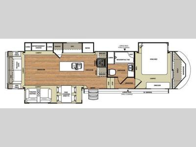 Floorplan - 2015 Forest River RV Wildwood Heritage Glen 337BAR