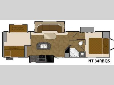 Floorplan - 2015 Heartland North Trail 34RBQS King