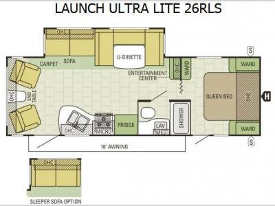 Floorplan - 2015 Starcraft Launch Ultra Lite 26RLS